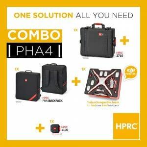 HPRC – Kombo Koffert (uten hjul) og Ryggsekk Phantom 4