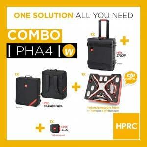 HPRC – Kombo Koffert (med hjul) og Ryggsekk Phantom 4