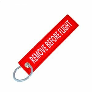 Remove Before Flight – Nøkkelring